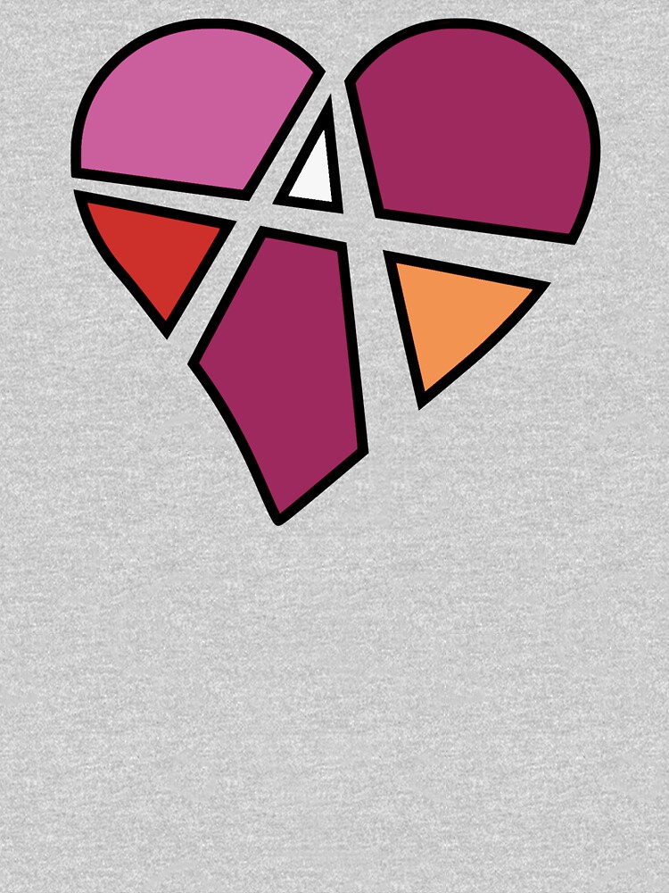 Lesbian Relationship Anarchy Heart (White) by polyphiliashop
