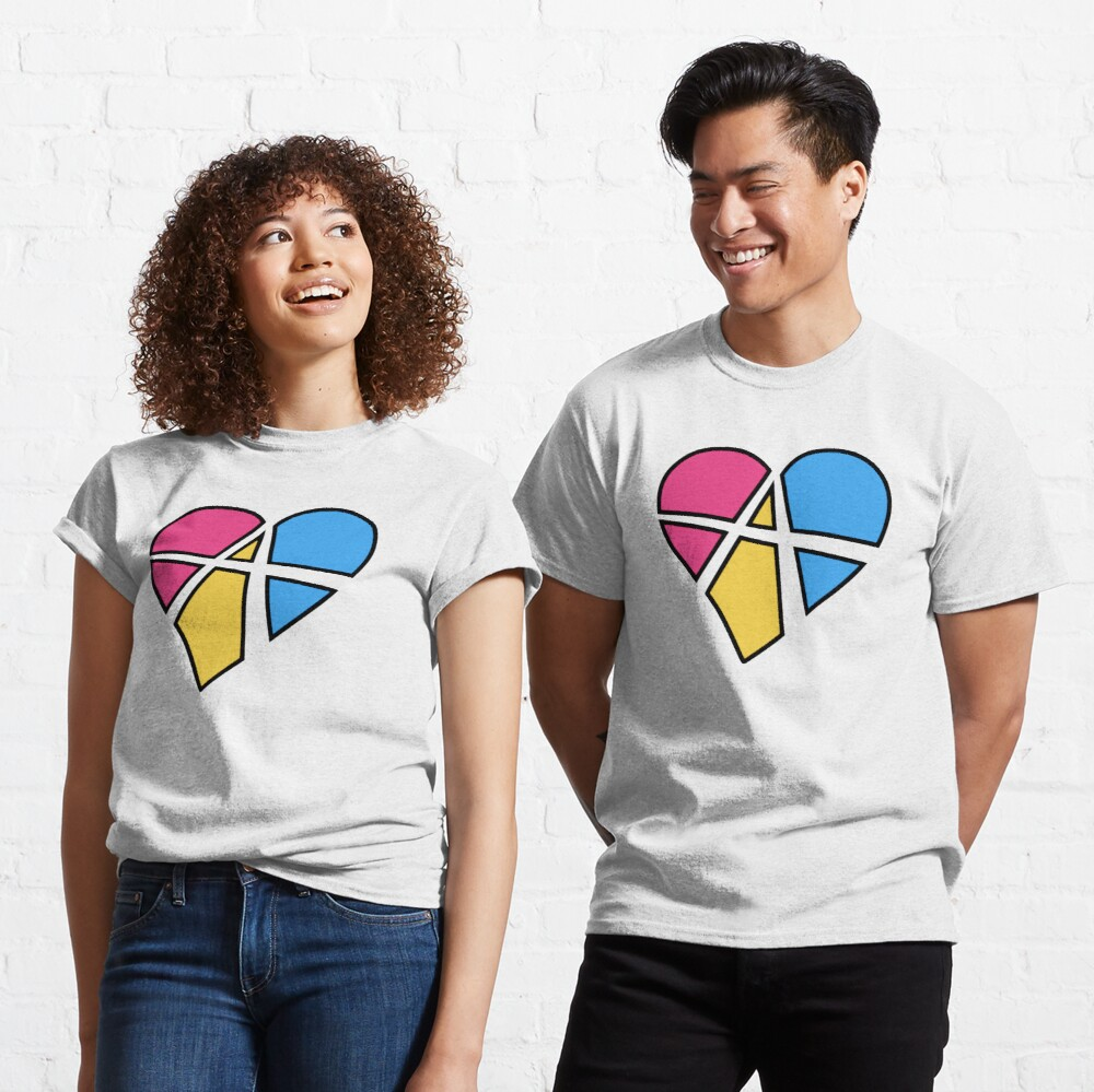 Pansexual Relationship Anarchy Heart (Black) Classic T-Shirt