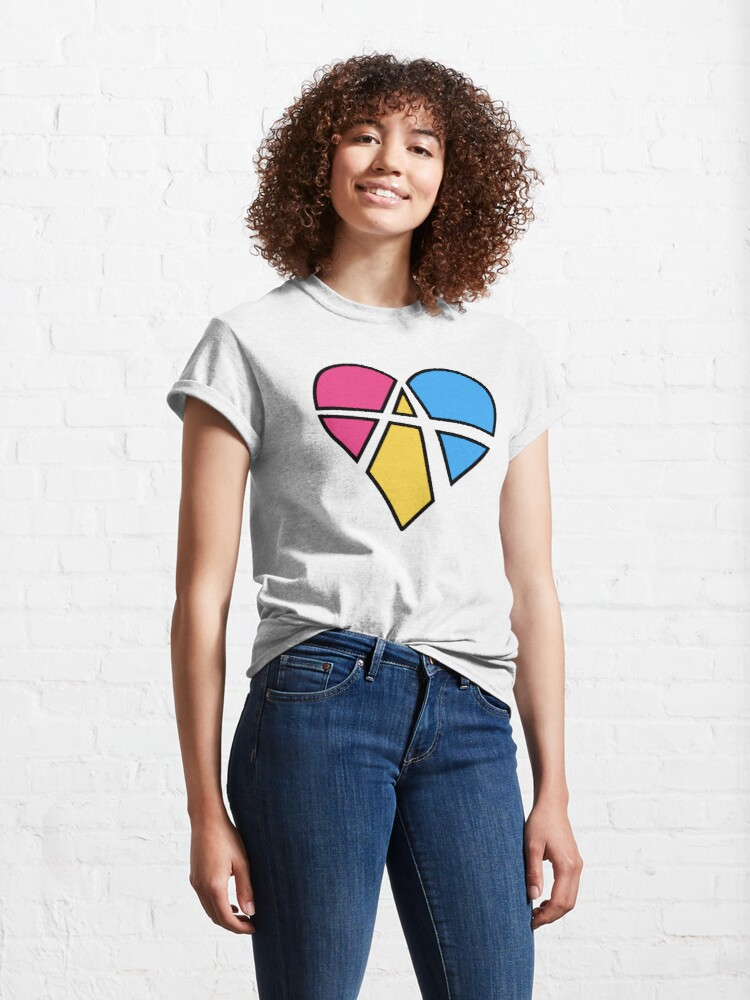 Alternate view of Pansexual Relationship Anarchy Heart (Black) Classic T-Shirt