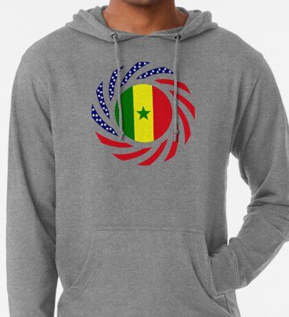 Senegalese American Multinational Patriot Flag Series Lightweight Hoodie