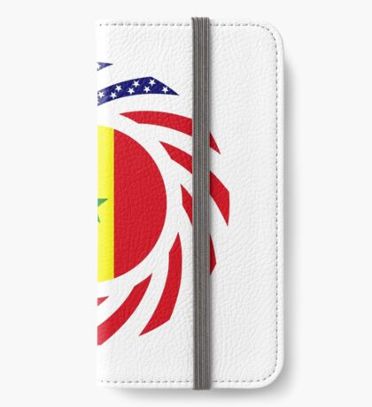 Senegalese American Multinational Patriot Flag Series iPhone Wallet