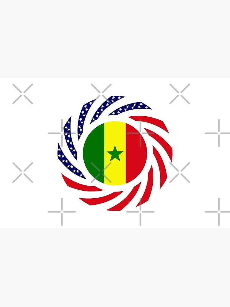 Senegalese American Multinational Patriot Flag Series by carbonfibreme