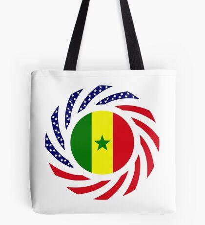 Senegalese American Multinational Patriot Flag Series Tote Bag