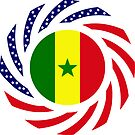 Senegalese American Multinational Patriot Flag Series by Carbon-Fibre Media