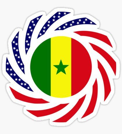 Senegalese American Multinational Patriot Flag Series Sticker