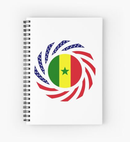 Senegalese American Multinational Patriot Flag Series Spiral Notebook