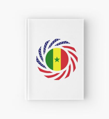 Senegalese American Multinational Patriot Flag Series Hardcover Journal