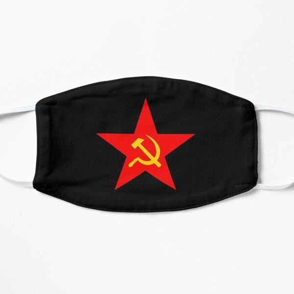 Hammer & Sickle. Red Star. Communist Star. Communism. On BLACK. Flat Mask