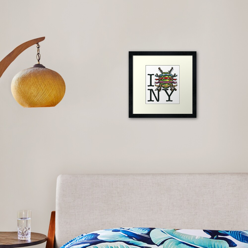 I (Turtle) NY Framed Art Print