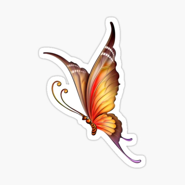 Spring butterfly Sticker