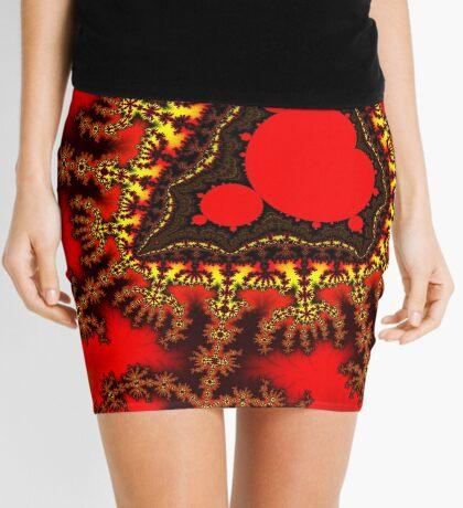 Red Mandelbrot  Mini Skirt