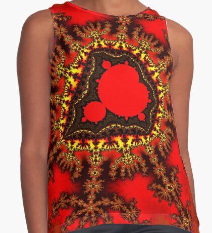 Red Mandelbrot  Sleeveless Top