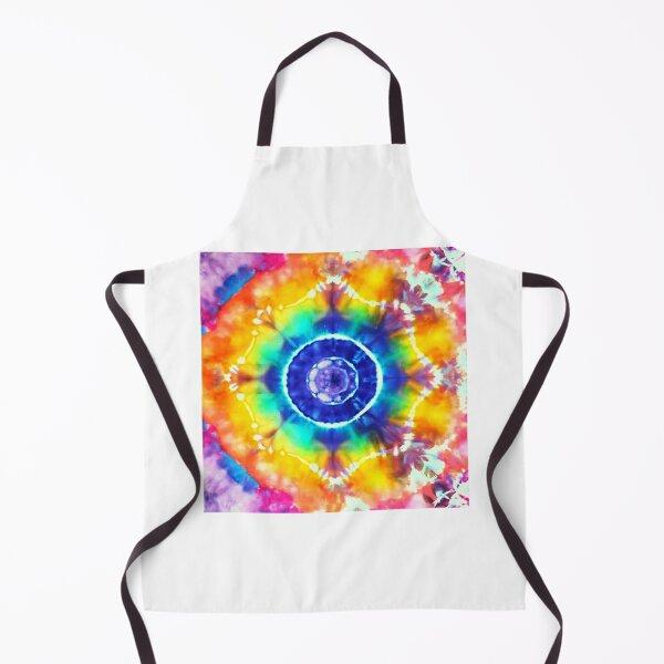 Sassy Rainbow Tie Dye Mandala Apron
