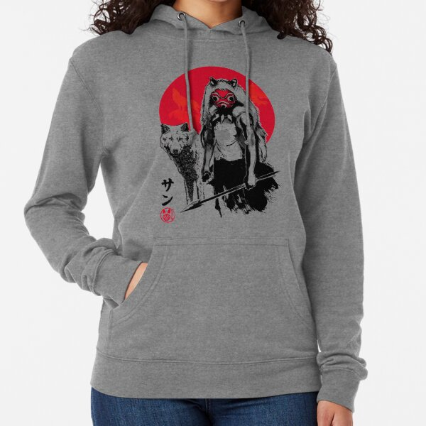 Red Wolf Lightweight Hoodie