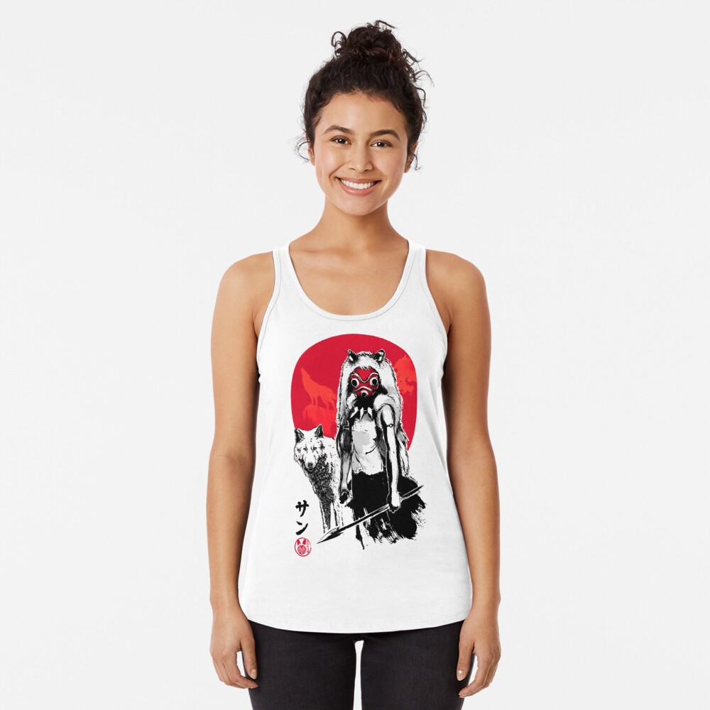 Red Wolf Racerback Tank Top
