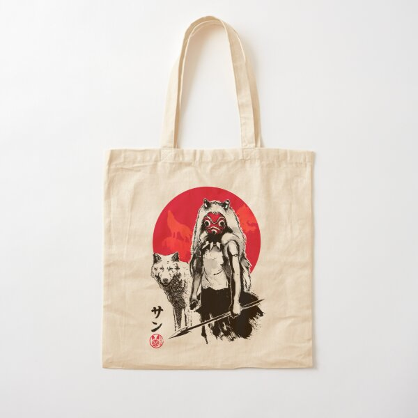 Red Wolf Cotton Tote Bag