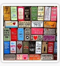Signs Of The Time Inspirational Mosaic Sticker