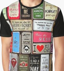 Signs Of The Time Inspirational Mosaic Graphic T-Shirt