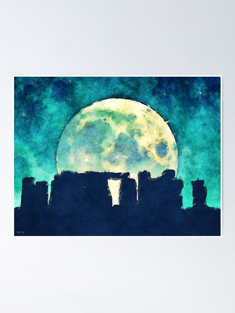 Alternate view of Stonehenge Poster