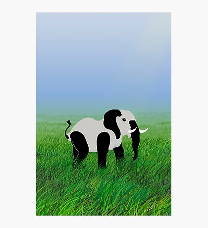 Panda-Phant in the Prairie VRS2 Photographic Print