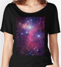 Purple Galaxy Women's Relaxed Fit T-Shirt