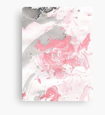 Pink and grey marble Canvas Print