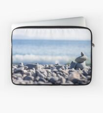 Stacked Stones on the Beach Laptop Sleeve