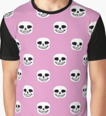 Undertale Sans Pattern - Pastel Pink Graphic T-Shirt