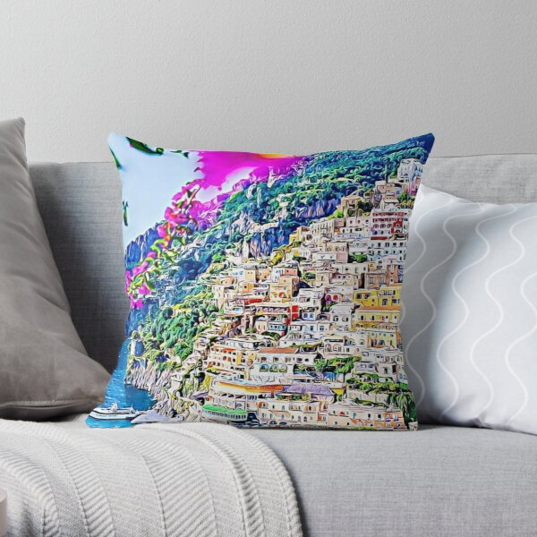 The beautiful Italian coast Throw Pillow