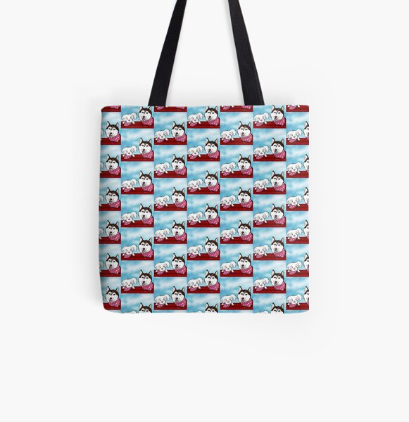 Dogs Are Love All Over Print Tote Bag