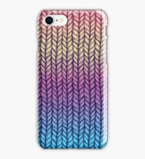 Rainbow Gradient Chunky Knit Pattern iPhone Case/Skin