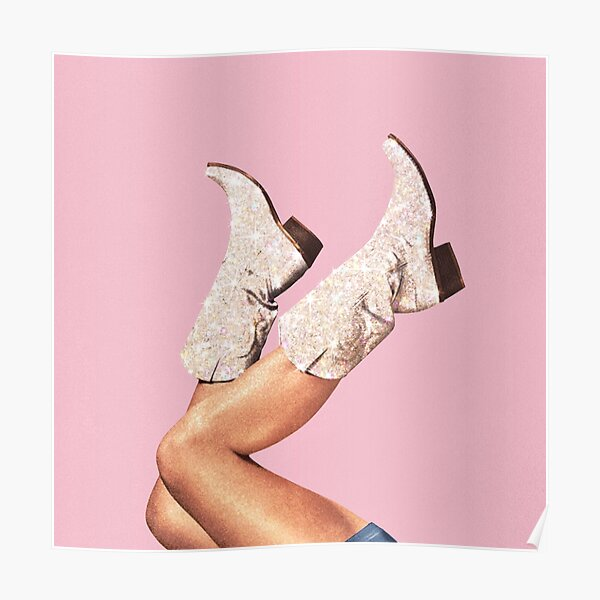 These Boots - Glitter Pink Poster