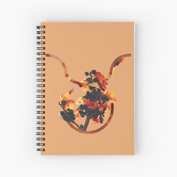 Taurus Flower Spiral Notebook