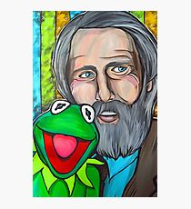 Jim Henson & Kermit the Frog Photographic Print