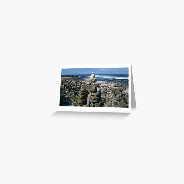 Dolphin Point Beach Rock Garden Greeting Card