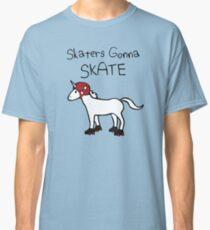 Skaters Gonna Skate (Unicorn Roller Derby) Classic T-Shirt