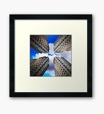 construction of residential buildings Framed Print