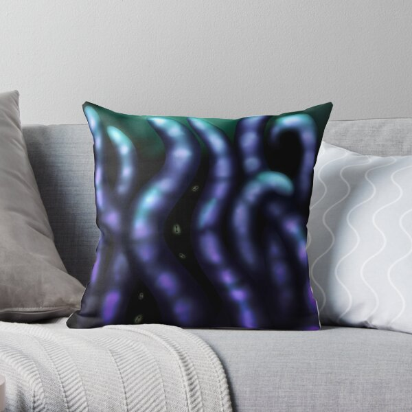 Creature of the abyss Throw Pillow