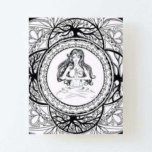 Divine Feminine And Tree Of Life Mandala Canvas Mounted Print