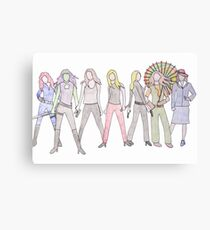 Strong Women Characters Canvas Print