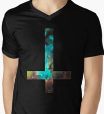 Green Galaxy Inverted Cross T-Shirt