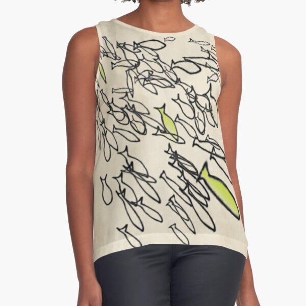Lenormand Fish Card - Hand Drawn Sleeveless Top