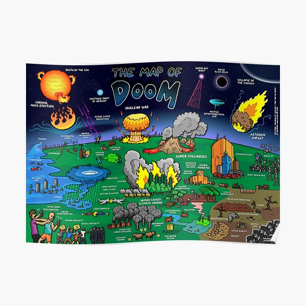 The Map of Doom Poster Poster