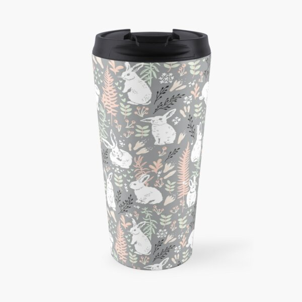 White rabbits Travel Mug