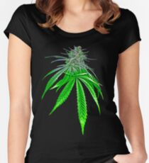 Dope Bud Women's Fitted Scoop T-Shirt