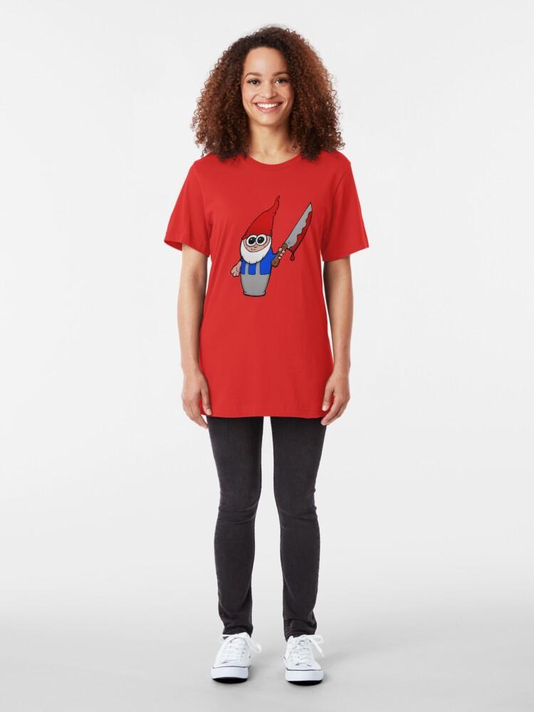 Alternate view of Gnomicidal Maniac Slim Fit T-Shirt