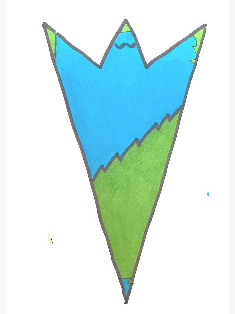 Blue and Green Ta-Dah! - Serenity - Peace - Joy by LiveYummy