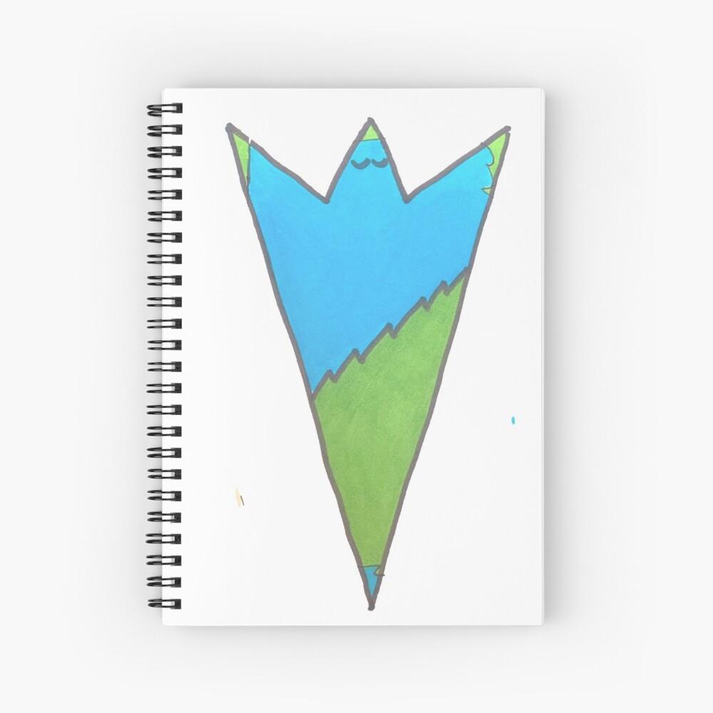 Blue and Green Ta-Dah! - Serenity - Peace - Joy Spiral Notebook