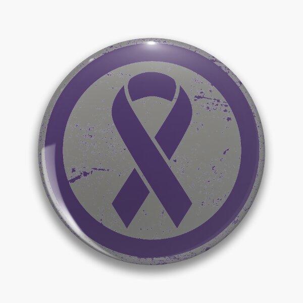 Vintage Awareness Purple Ribbon Pin