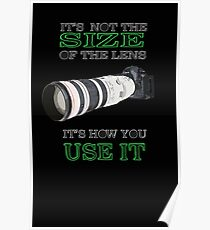the size of the lens 3 Poster